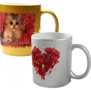 mugs or et argent